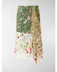 Marques'Almeida - Embroidered Tulle Skirt - Lyst