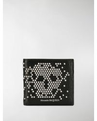 Alexander McQueen - Portafoglio billfold con teschio - Lyst