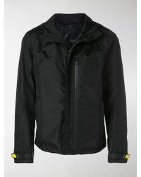 Prada - Logo Trim Windbreaker Jacket - Lyst