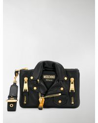 Moschino - Leather Clutch - Lyst