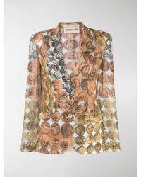 Roberto Cavalli - Coin Print Blazer - Lyst