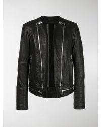 Balmain - Bubble Leather Jacket - Lyst