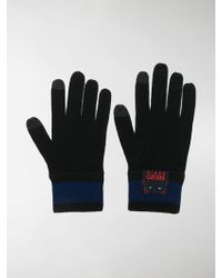 KENZO - Embroidered Logo Gloves - Lyst