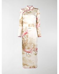 F.R.S For Restless Sleepers - Printed Long Cheongsam Dress - Lyst