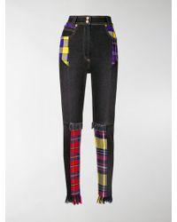 Versace - High Waist Patchwork Jeans - Lyst