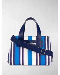 dac56423df8f Lyst - Miu Miu Pattina Spangle Shoulder Tote Bag Royal Blue ...