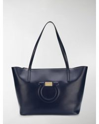 Ferragamo - City Quilted Gancio Leather Tote - Lyst