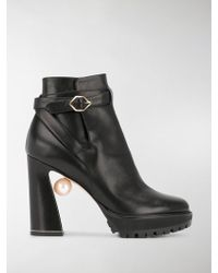 Nicholas Kirkwood - Annabel Pearl 115 Platform Boots - Lyst