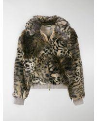 Stella McCartney - Giacca con stampa leopardata - Lyst
