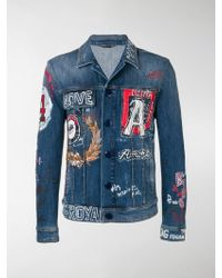 Dolce & Gabbana - Printed Denim Jacket - Lyst