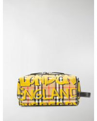 Burberry - Graffiti-print Vintage Check Wash Bag - Lyst