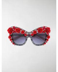 Dolce & Gabbana - Lace Bouquet Sunglasses - Lyst