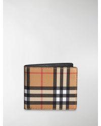 Burberry - Portafoglio Vintage Check - Lyst