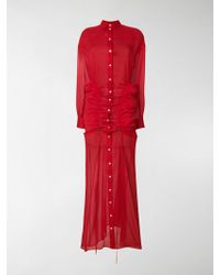 Y. Project - Gathered Maxi Shirt Dress - Lyst