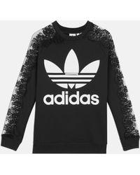 Stella McCartney - Adidas Pullover mit 3 Streifen und Spitze - Lyst