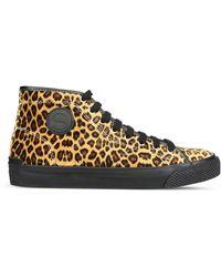 f2ac270ba99 Stella McCartney - Leopard High-top Vulca Sneakers - Lyst