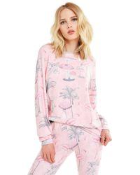 Wildfox - Pink Paradise Baggy Beach Jumper | Multi - Lyst