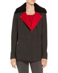 St. John - Doubleface Melange Scuba Jacket - Lyst