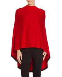 St. John - Sale Exclusive Fine Gauge Rib Knit Poncho - Lyst