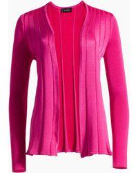 St. John - Plaited Fit & Flare Knit Cardigan - Lyst