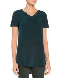 St. John - Sleek Viscose Jersey T-shirt - Lyst