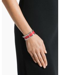 St. John - Metal And Leather Cuff - Lyst
