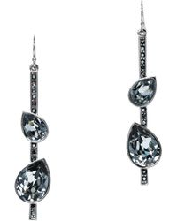St. John - Swarovski Crystal French Wire Drop Earrings - Lyst