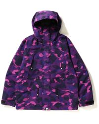 3ec8b10a A Bathing Ape Color Camo Front Zip Jersey Red in Red for Men - Save 11% -  Lyst