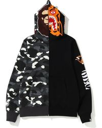 4b352b10967 A Bathing Ape - City Camo 2nd Ape Tiger Full Zip Hoodie Black - Lyst