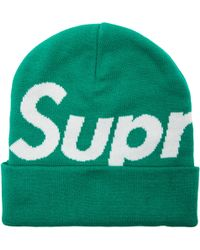 Lyst - Supreme Big Logo Cashmere Beanie in Green for Men 7163ff0964ea