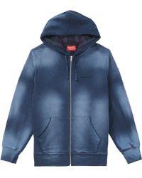 580695bc Supreme Star Zip Up Sweatshirt Black in Black for Men - Lyst