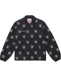 4411d2f1e Nfl X Raiders X '47 Embroidered Harrington Jacket Black