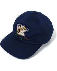 86733a023b1 Lyst - KENZO Tiger Cap With Metallic Embroidery in Black for Men