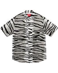 daa694891225 Lyst - Supreme Tiger Stripe Rayon Shirt Magenta for Men