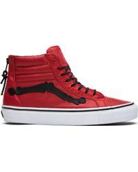 9f12b2fd289ef5 Lyst - Vans Sk8-hi (mono Canvas) Chili Pepper  True White in Red for Men