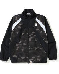 e057ad436870 Lyst - A Bathing Ape Majestic Satin Varsity Jacket in Black for Men