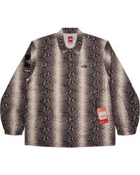 Supreme - The North Face Snakeskin Taped Seam Coaches Jacket Black - Lyst