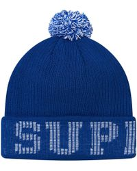 38406fdb3 Supreme New Era S Logo Beanie Royal in Blue for Men - Lyst