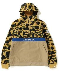 4bdcc90b3325 Lyst - A Bathing Ape Camouflage-print Cotton Hoody in Yellow for Men