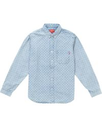 ccdfc56527 Lyst - Billy Reid Washed-denim Shirt in Blue for Men
