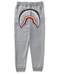 ce4cdb8f A Bathing Ape Wgm Shark Slim Sweatpants Black in Black for Men - Lyst