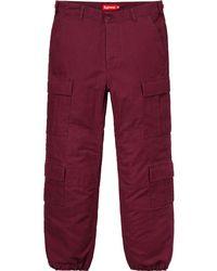 Supreme - Cargo Pant (ss18) Burgundy - Lyst