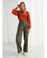 & Other Stories - Wool Blend Workwear Trousers - Lyst