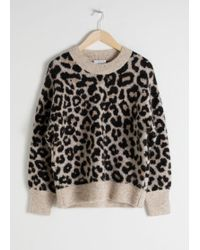 & Other Stories - Oversized Leopard Jumper - Lyst