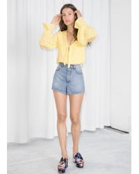 & Other Stories - High Waisted Denim Shorts - Lyst