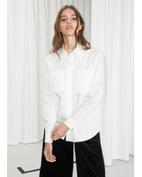 & Other Stories - Structured Cotton Shirt - Lyst