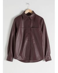 & Other Stories - Leather Button Up Shirt - Lyst