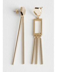 & Other Stories - Dangling Hexagon Mismatch Earrings - Lyst