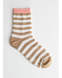& Other Stories - Striped Ankle Socks - Lyst