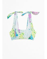 & Other Stories - Square Tie Floral Bikini Top - Lyst